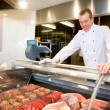 Fresh Meat Counter — Stock Photo