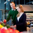Supermarket Couple — Stock Photo