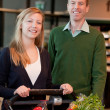 Grocery Store Couple Portrait — Stock Photo