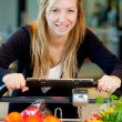 Woman with Fresh Produce — Stock Photo