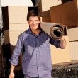 Mover with Carpet — Stock Photo #5737001