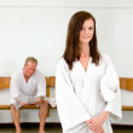 Woman in Wellness Spa — Stock Photo