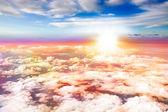 Aerial Sunset — Stock Photo