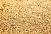 Golf Ball in Bunker — Stock Photo