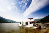 Luxury House Boat — Stock Photo
