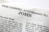 Gospel of John — Stock Photo