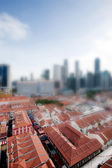 Tilt Shift Singapore — Stock Photo