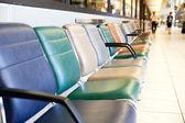 Havalimanı terminal sandalye — Stok fotoğraf