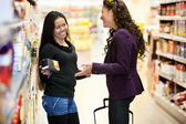 Happy Grocer Store Women — Stock Photo