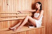 Beautiful young woman relaxing — Stock Photo