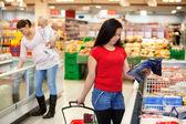 Women in shopping store shopping — Stock Photo