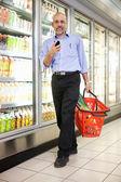 Man in Supermarket — Stock Photo