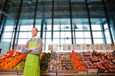Grocery Store Owner Portrait — Stockfoto