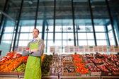 Market sahibi portre — Stok fotoğraf