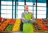 Grocery Store Owner — Stock Photo