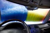 Car Wash Abstract — Stock Photo