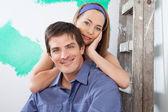 Portrét milující, mladý pár — Stock fotografie