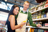 Grocery Store Help — Stock Photo