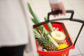 Supermarket Basket Detail — Stock Photo