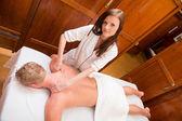Professional Massage Therapist — Stock Photo