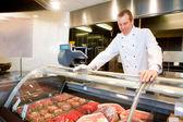 Contador de carne fresca — Fotografia Stock