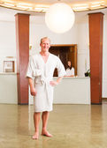 Male Spa Reception Portrait — Stock Photo