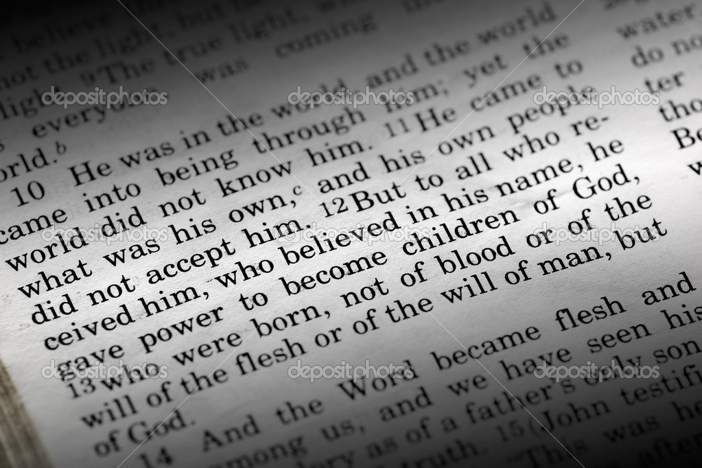 Bible detail of John 1:12 , a popular New Testament passage — Stock Photo #5731137
