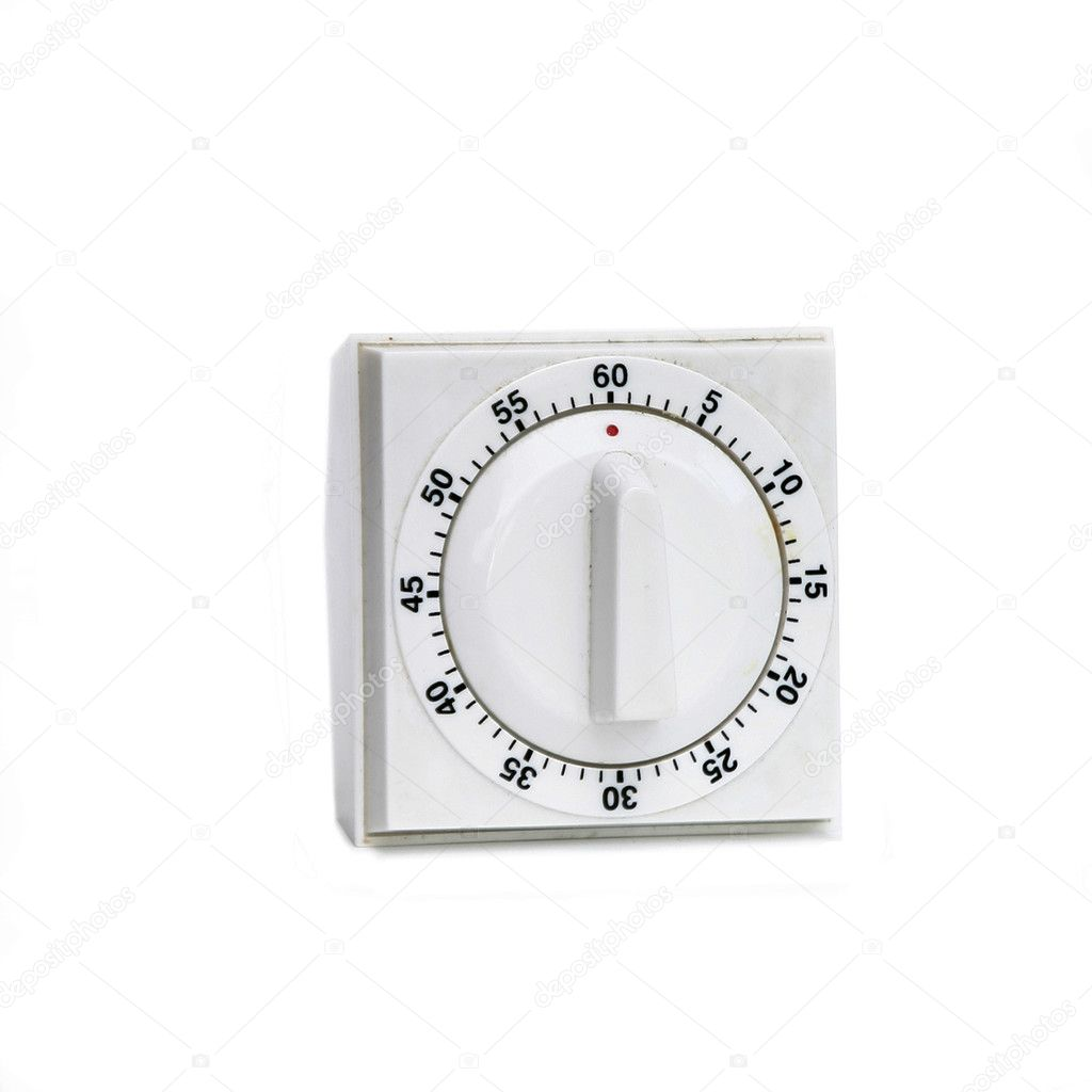 A white plastic timer on white  Stock Photo #5732932