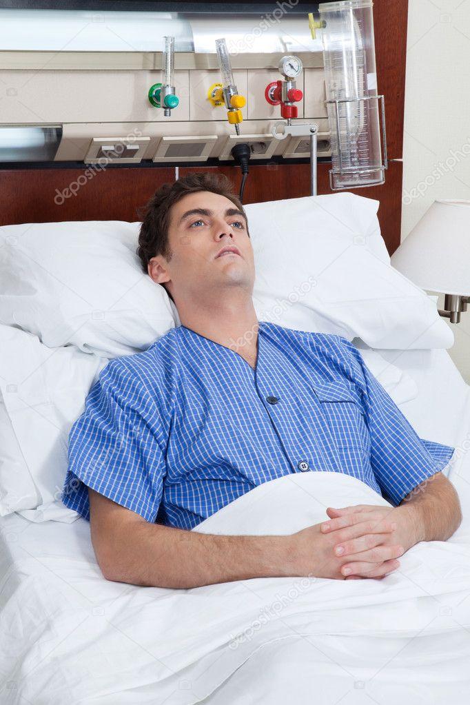 an severe male patient � stock photo 169 simplefoto 5734615