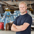 Portrait of Smiling Mechanic - Foto de Stock  