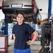 Female Mechanic Portrait — Stock Photo