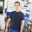 Mechanic in Office - Foto de Stock