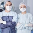 Young confident surgeons - Foto Stock