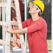 Architect holding ladder — Stock Photo