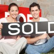Couple Purchase New Home — Stock Photo