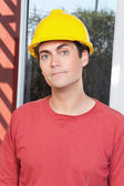 Portrait of young architect — Stock Photo