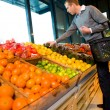 Stock Photo: Buying Fruit and Vegetables