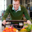 Male in Grocery Store - Stock Photo