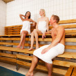 Friends in Sauna — Stock Photo #6553774