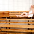 Relaxed Woman in Sauna — Stock Photo #6553888