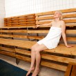 Relaxed Woman in Spa Sauna - Foto de Stock