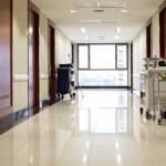 Empty hallway of hospital — Stock Photo