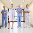 Team of doctor and nurse standing - Stock Photo