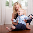 Young Mother with Boy — Stock Photo