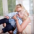 Playful Mother with Child — Stock Photo