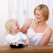 Mother and Son Laughing — Stock Photo
