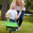 Mother and Child Playing Outdoors — Stock Photo #6559884