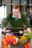 Male in Grocery Store — Stock Photo