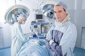 Confident surgeon in operating room — Stock Photo