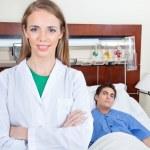 Confident female doctor — Stock Photo